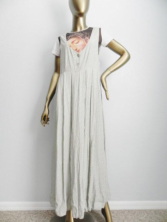 floral music ~ sea foam calico jumper dress