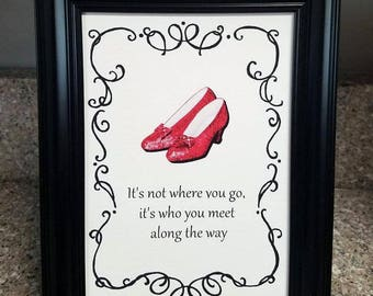 Wizard of Oz Quotes, (8) 5x7 inch, Prints for Framing, Tea Party, Birthday Party, Baby Shower, Bridal Shower, Nursery, Wall or Table Decor