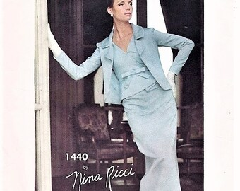 7e5b3a13598 60s Nina Ricci STUNNING Evening Gown Cocktail Party Dress