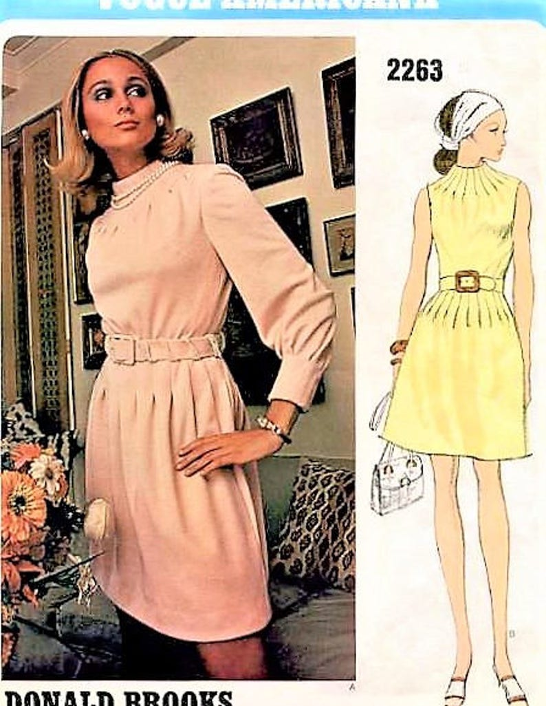 dfac6d2968f Vogue Americana Vintage Sewing Pattern 2263 Donald Brooks