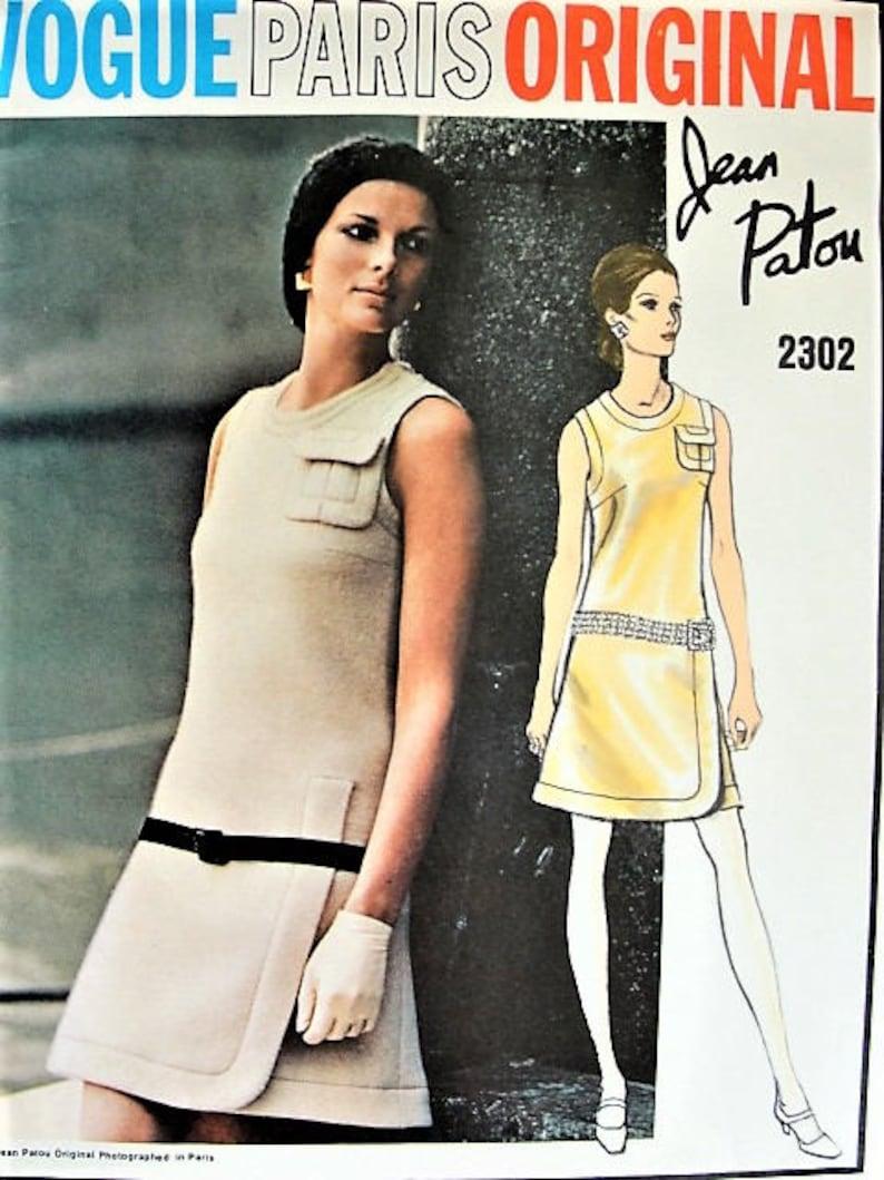 f069967ef1d RARE 60s Patou Mod Dress Pattern Vogue Paris Original 2302