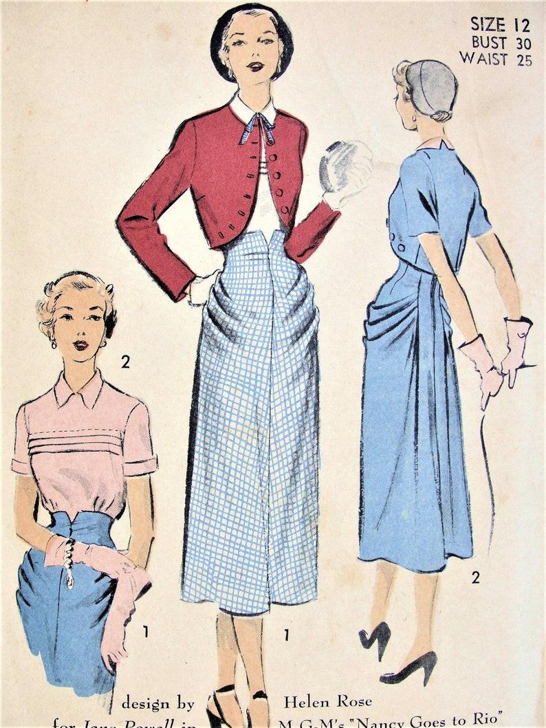 01327a3740f RARE 50s Helen Rose 3 Pc Suit Pattern Advance 5422 UNIQUE