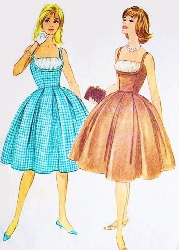 60er Jahre Bardot SEXY Cocktail-Kleid Schnittmuster McCalls | Etsy