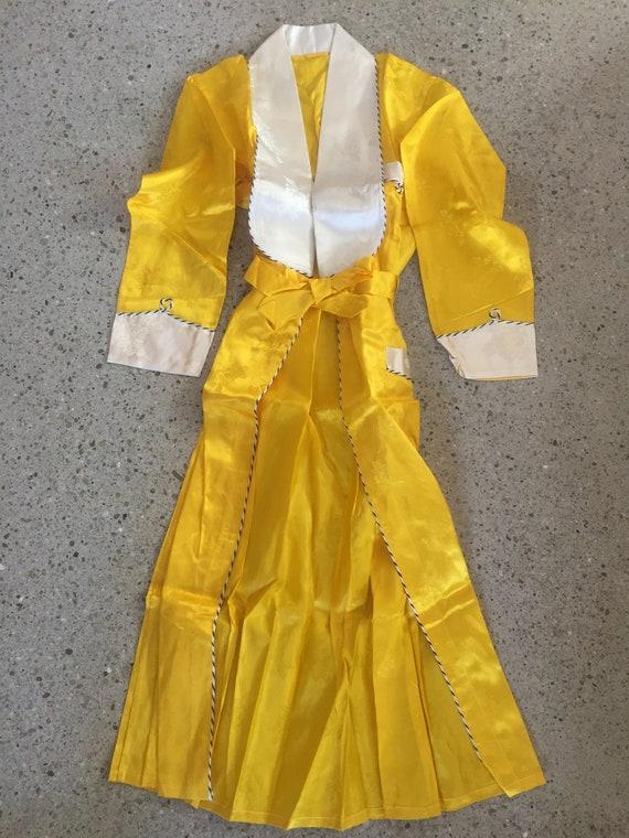 Yellow China Doll 4-piece Pyjama Suit