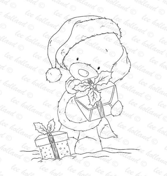 Digitale Briefmarken Welpen Weihnachten Digi Welpen Etsy