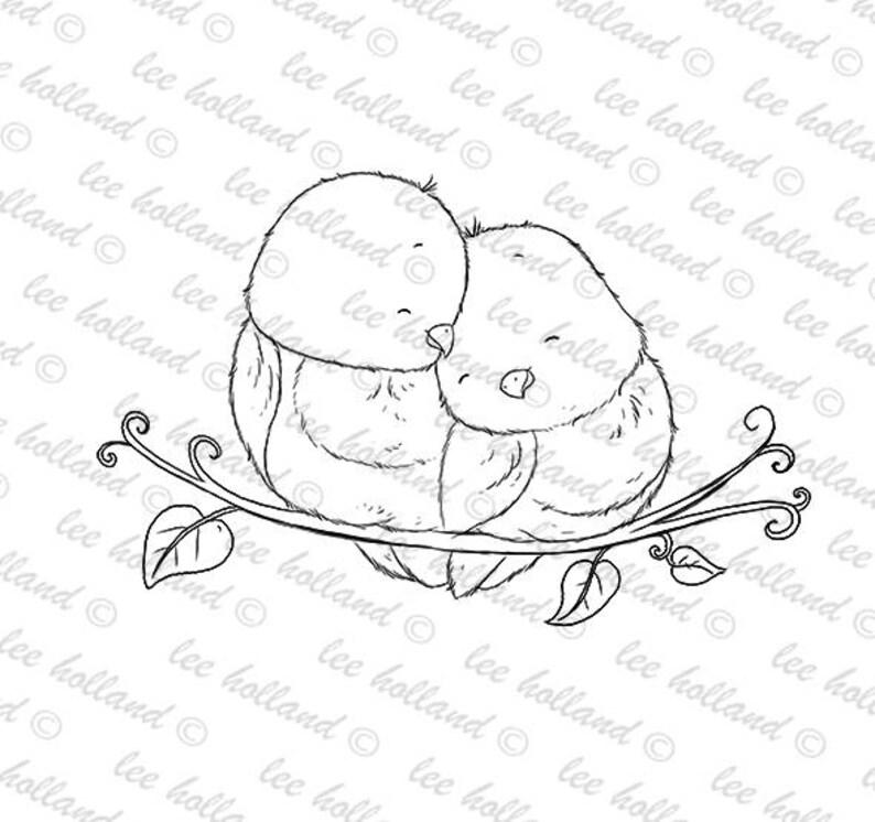 Digital StampLove Birds Card making Digi image 0