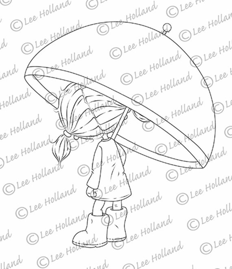 Girl with umbrella image 0