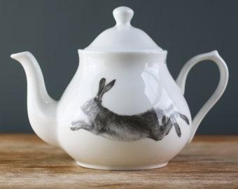 Running Hare Fine Bone China Teapot