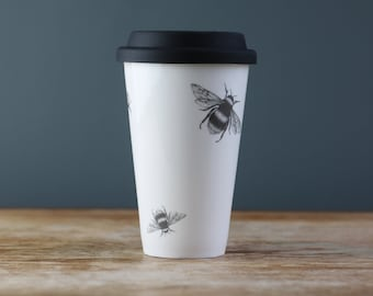 Bumble & Bee Fine China Travel Cup