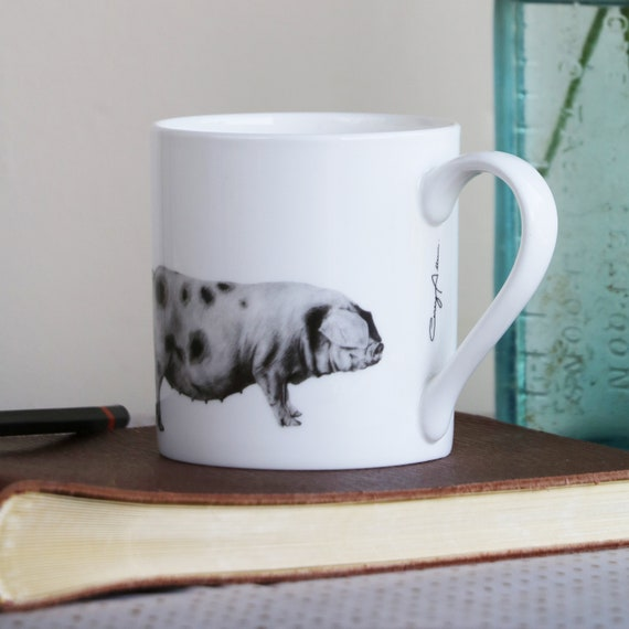 Hare MugFine Bone ChinaCountry Style GiftHand FinishedMade in the UK