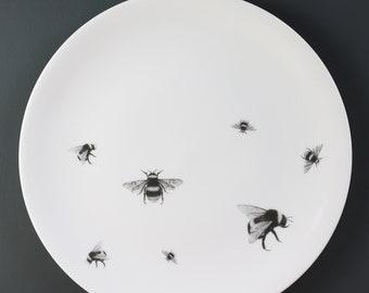 Bumble & Bee Large Fine Bone China Plate
