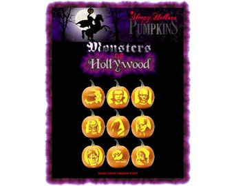 Monsters Of Hollywood Pumpkin Carving Patterns