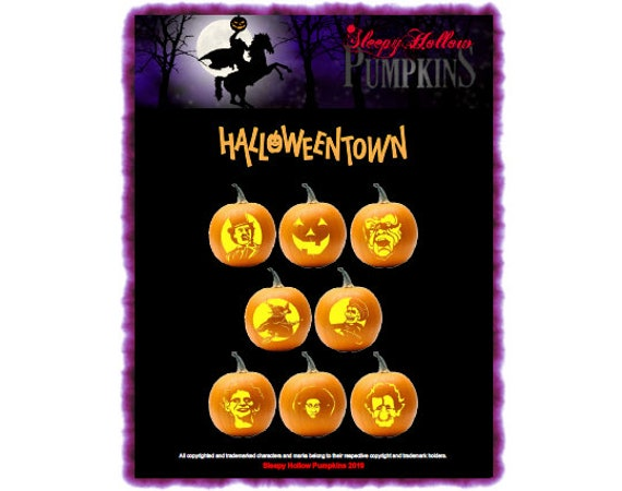 Halloweentown Pumpkin Carving Patterns  Printable PDF