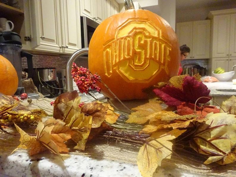 Osu Buckeyes Pumpkin Carving Patterns Printable Pdf Etsy