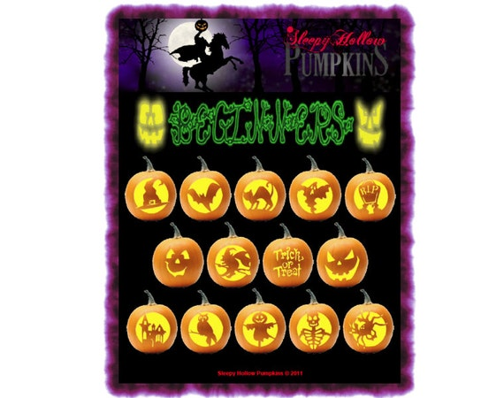 Beginner Pumpkin Carving Patterns  Printable PDF