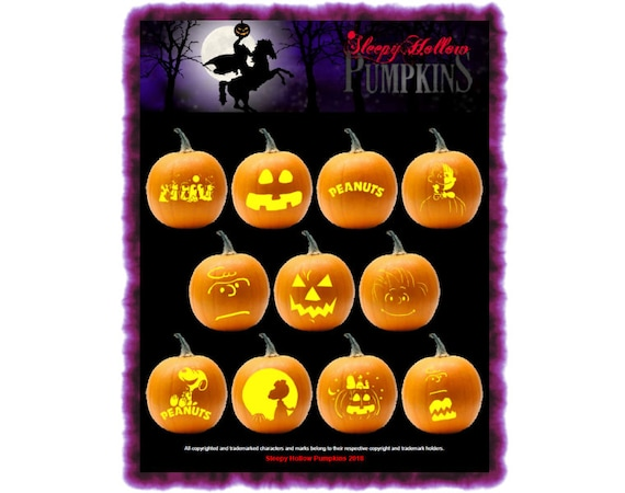 Peanuts Great Pumpkin Carving Patterns  Printable PDF