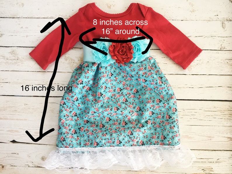 Upcycled Baby Dress Newborn Dress Baby Floral Dress Lace Trim Baby Dress Repurposed Clothing for Baby Unique Baby Gift for a Girl