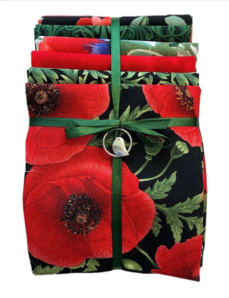 Asian Quilting Sewing Fat Quarter Color Pack Poppy Panache