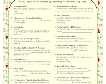 image relating to Printable Christmas Song Games named Xmas video games Etsy
