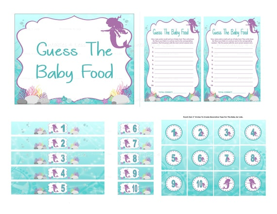 photograph relating to Guess Who Game Printable identify Mermaid Child Foodstuff Sport, Printable Mermaid Bet The Boy or girl Foods Guessing Video game, Aqua Underneath The Sea Track record Child Food items - Printables 4 Fewer 0153