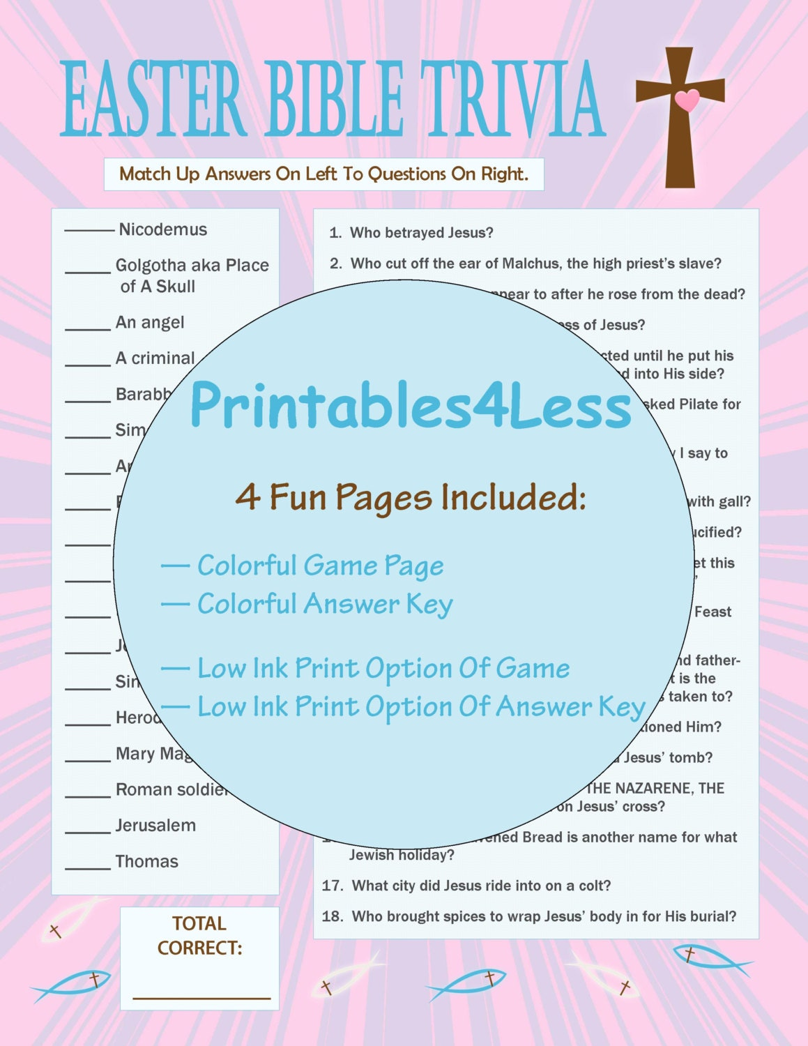 photograph relating to Printable Trivia Questions for Middle School Students titled Easter Bible Trivia, Printable Easter Activity, Printable Trivia Match, Ice Breaker Video game, Trivia Quiz, Do it yourself Celebration Trivia Match - Printables 4 Significantly less