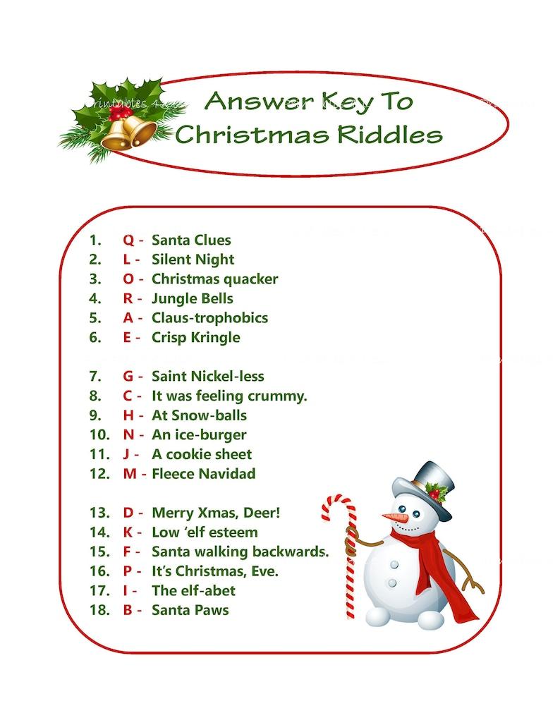 printable christmas riddles for adults