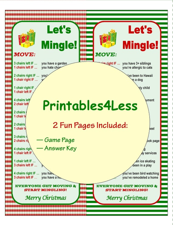 graphic regarding Left Right Christmas Game Printable identify Xmas Mingle Recreation, Xmas Ice Breaker Video game, Xmas Occasion Match, Do it yourself Getaway Social gathering Recreation, Printable Xmas Activity -Printables 4 Fewer