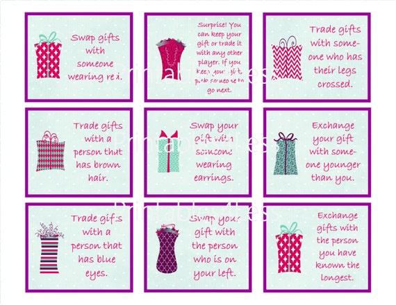 Christmas Gift Exchange Games.Fun Christmas Gift Game Games For Gift Exchange Gift Exchange Party Games Gift Swap Game Christmas Game Ideas By Printables 4 Less