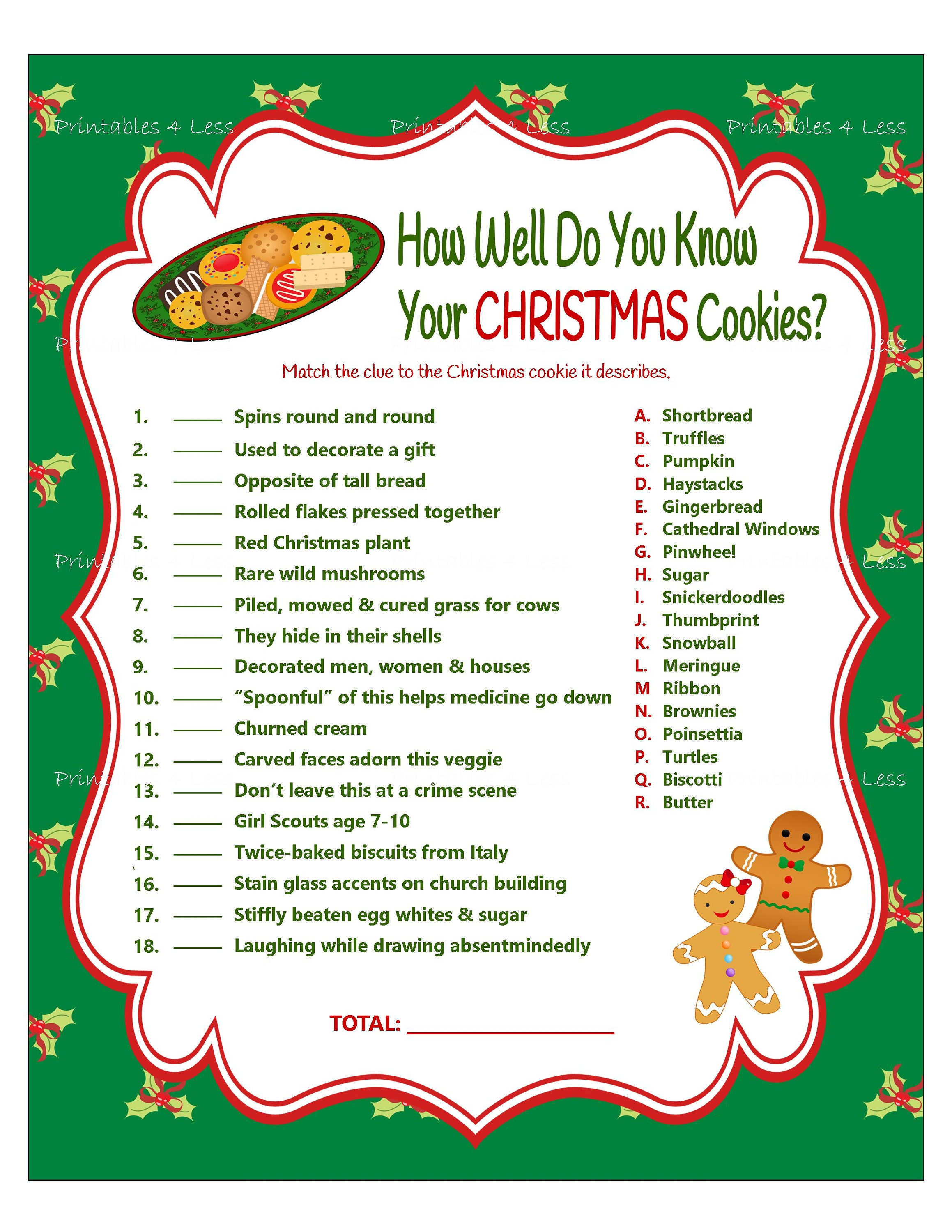 It's just a graphic of Monster Free Printable Christmas Games With Answers