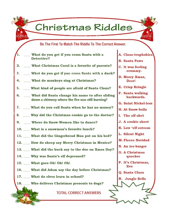 graphic about Printable Riddles called Xmas Riddle Recreation, Do it yourself Vacation Celebration Video game, Printable Xmas Sport, Do it yourself Match For Getaway, Christmas Sport Thought, Boy or girl Sport - Printables 4 Significantly less