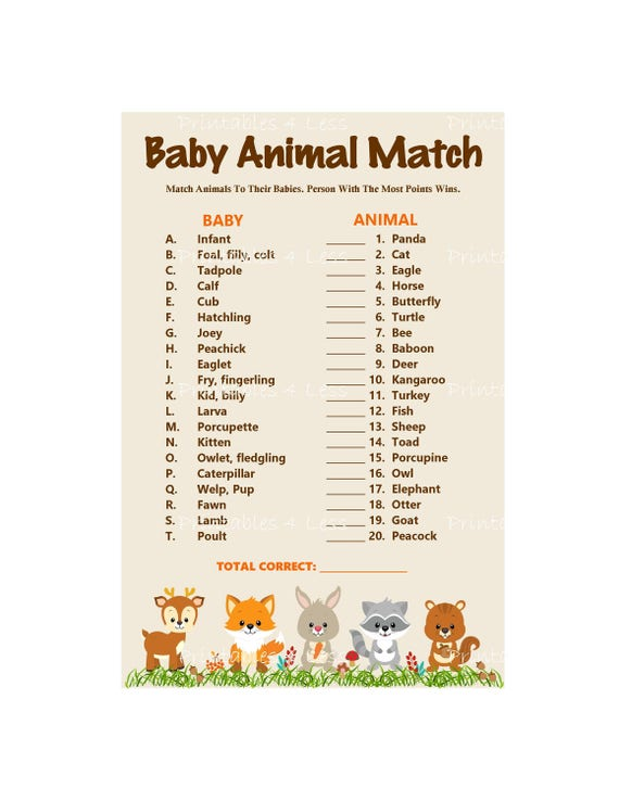 picture relating to Baby Animal Match Game Printable referred to as Woodland Boy or girl Animal Video game, Kid Pets Standing Recreation, Printable Woodland Match, Do it yourself Animal Recreation Recreation, Whos My Mama - Printables 4 Fewer 0087