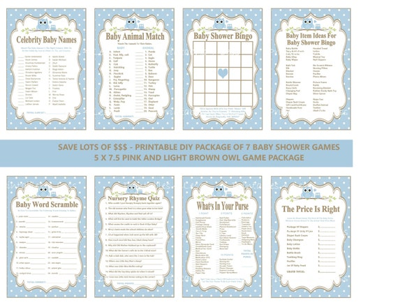 Blue Owl Baby Shower Games Themed