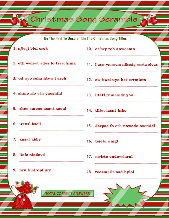 Insane image regarding christmas song games printable free