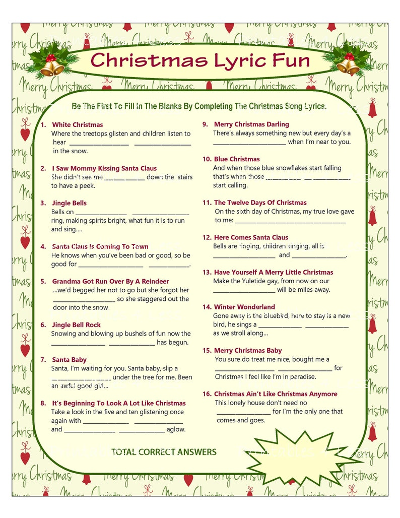 picture relating to Guess the Christmas Song Printable named Xmas Music Activity, Xmas New music Activity, Xmas Carol Sport, Printable Xmas Online games, Do-it-yourself Vacation Online games, Christmas - Printables 4 Considerably less