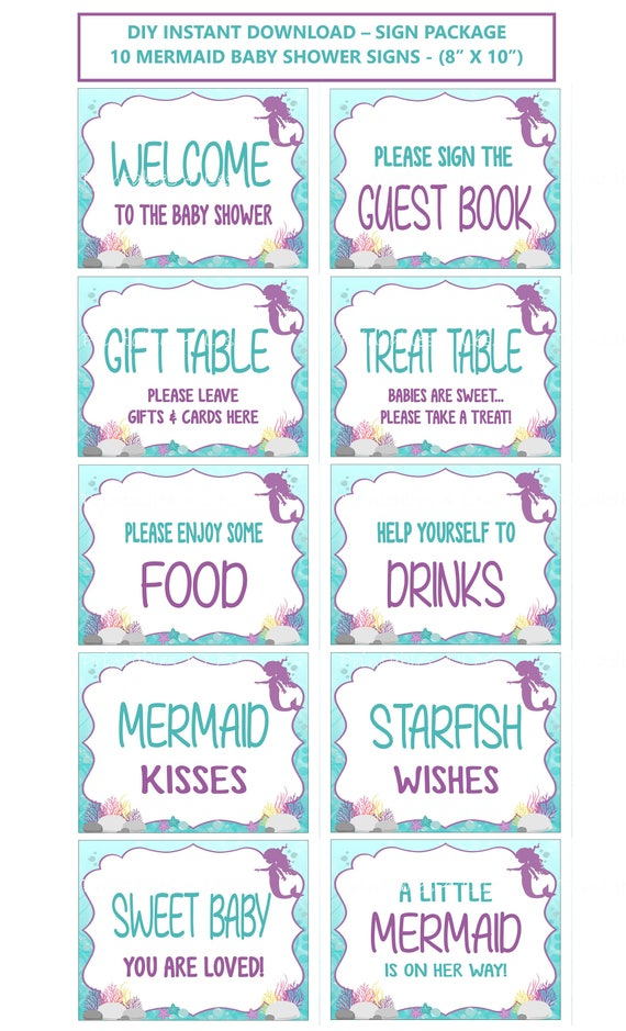 photo relating to Baby Shower Signs Printable named Mermaid Youngster Shower Signs or symptoms, Printable Mermaid Symptoms, Aqua Red Down below The Sea Desk Indicators, Mermaid Topic Indications - Printables 4 Much less 0153