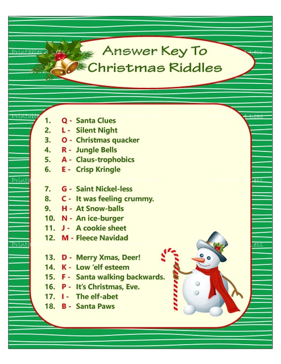 Christmas Riddle Game, DIY Holiday Party Game, Printable Christmas Game,  DIY Game For Holiday, Xmas Game Idea, Kid Game , Printables 4 Less