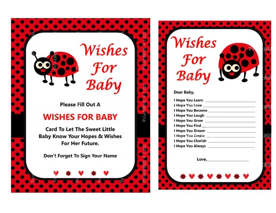 graphic about Printable Ladybug named Ladybug Desires For Kid Shower Activity, Kid Desires Card, Little one Female Desires, Printable Ladybug Recreation, Needs Video game - Printables 4 Significantly less 0051