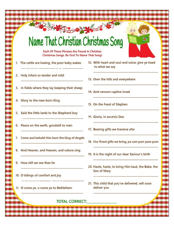 image about Printable Christmas Games for Adults known as Xmas Tune Video game, Christian Xmas Carol Recreation, Xmas Songs Recreation, Do-it-yourself Getaway Online games, Printable Xmas Video games - Printables 4 Fewer