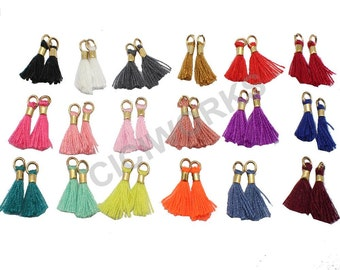 Wholesale 18pcs/lot 13mm(1/2'') Mini Tassels Tiny Short Cotton Thread Tassels GD18ST139