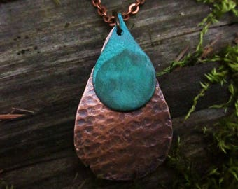Mini Copper Rain Necklace