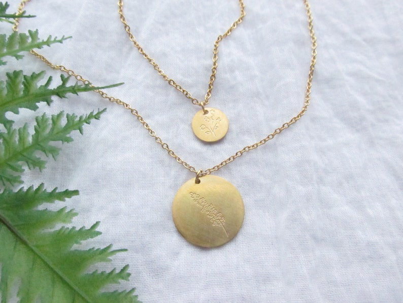 Layered Lavender Wildflower Necklace
