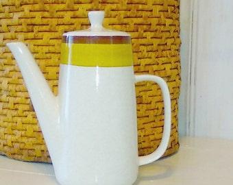 Japanese Coffee Pot Speckled Stoneware Minimalist Earth-Tones PREMIERE NuStone c1000 Vintage Serving Ware