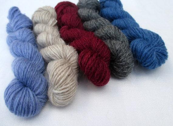 colour Petals 5 mini skeins of sock yarn 10 g each and 205 yards total