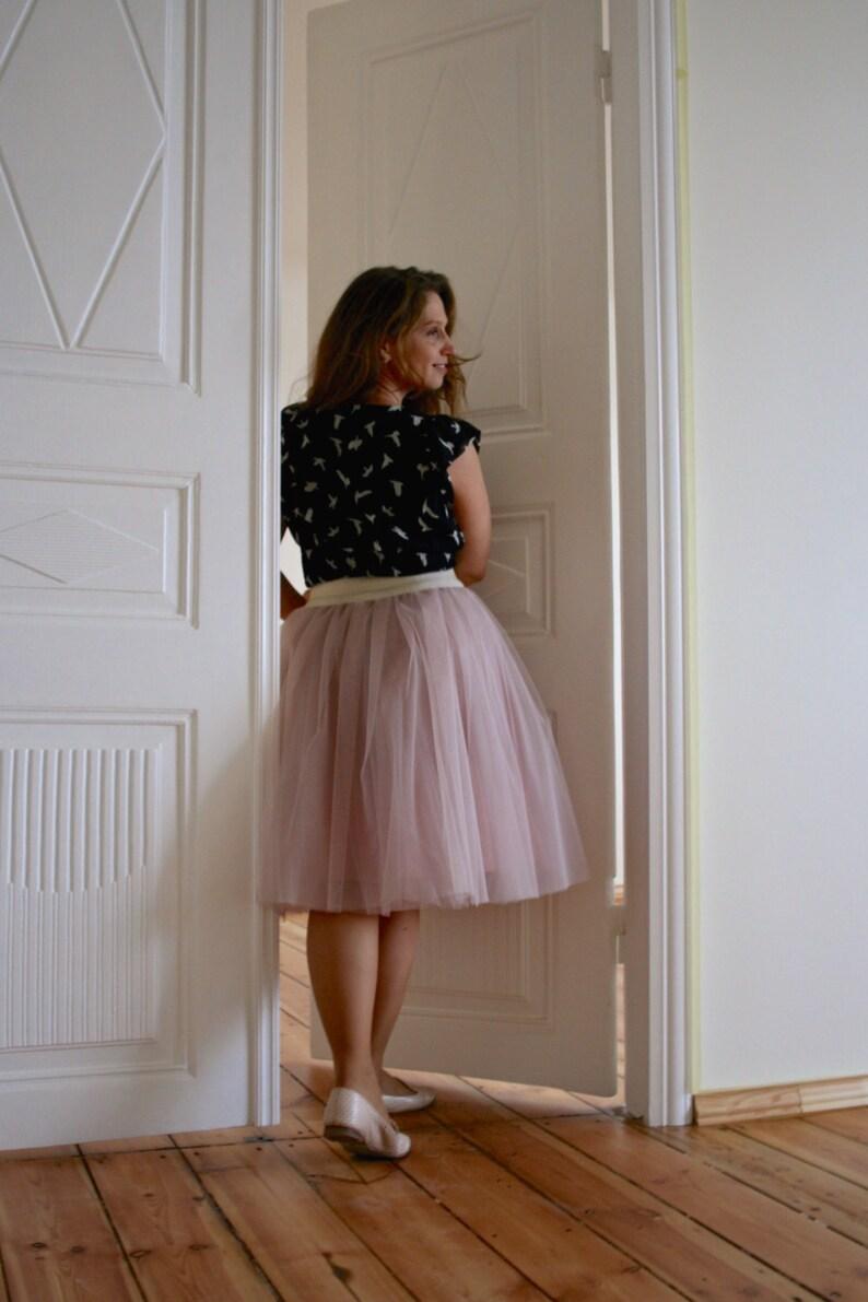 2d7fbc82484 Plus size tulle skirt women rose tea length pink adult skirt