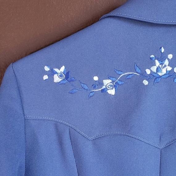 Vintage Women's Blue Suit Jacket from H Bar C Cal… - image 5