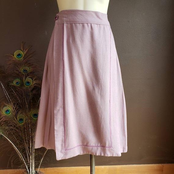 Vintage Women's 1950s Pleated Wrap Skirt