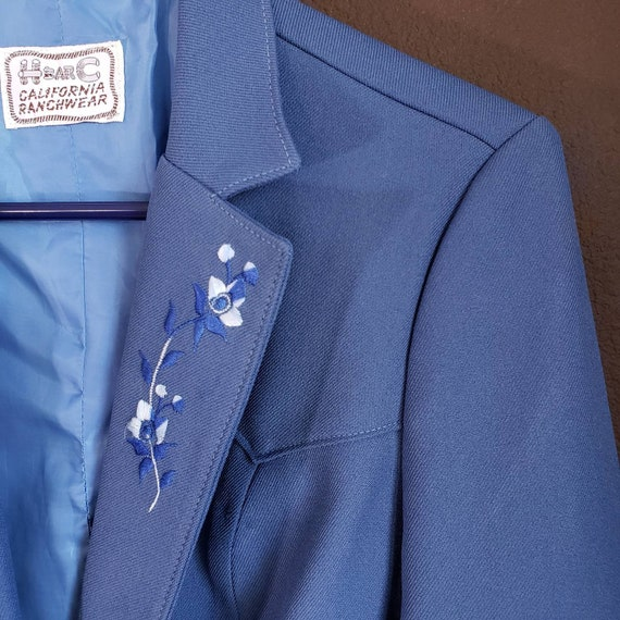 Vintage Women's Blue Suit Jacket from H Bar C Cal… - image 9
