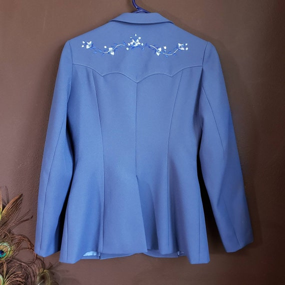 Vintage Women's Blue Suit Jacket from H Bar C Cal… - image 2