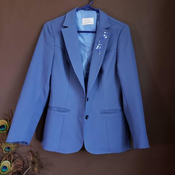 Vintage Women's Blue Suit Jacket from H Bar C Cali