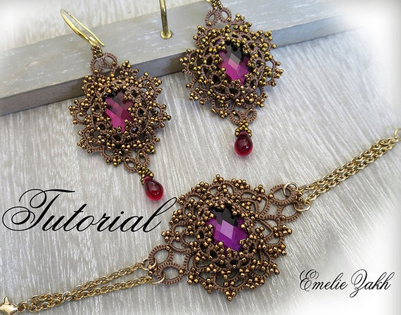 Bead tatting tutorial | frivolite | pinterest | tutorials, tatting.